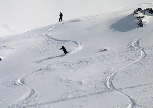 Easy to get freshies at Ohau ski field NZ