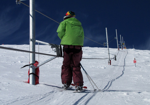 The very long nutcracker rope tow at Roundhill NZ