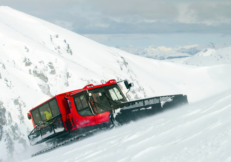 Baguales Mountain Reserve - The Pistin Bully snowcat makes ascents easy
