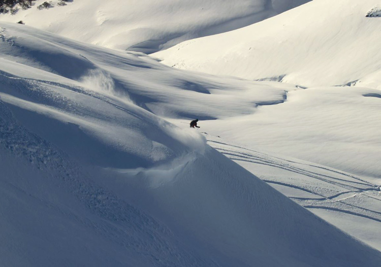 Baguales Mountain Reserve - There is plenty of cruizy terrain for those who just want to float in the powder