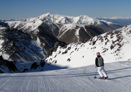 Groomed runs at La Hoya ski resort