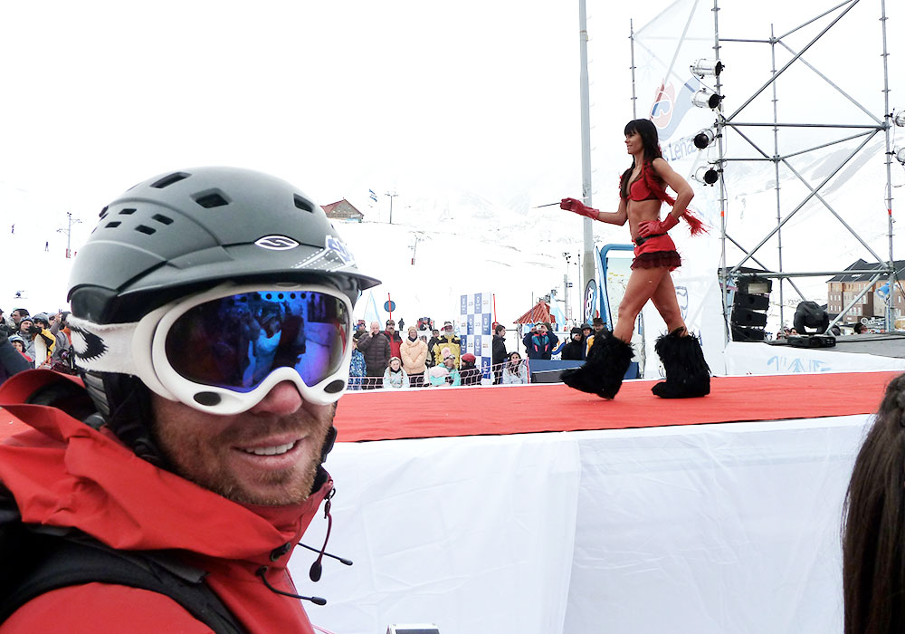 Las Leñas Ski Resort - this is in-bounds under the Marte chair