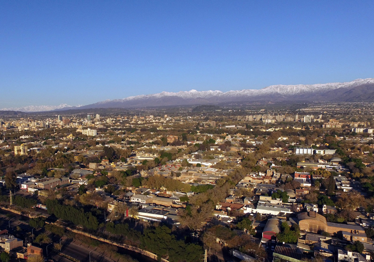 Mendoza sits in the foot hills of the Andes