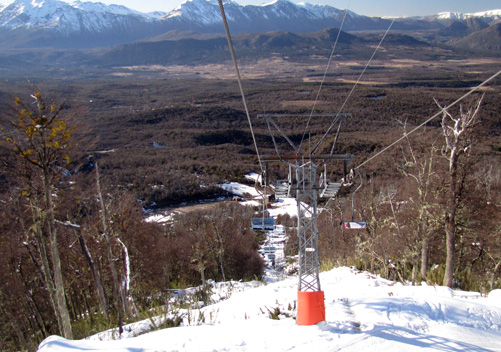 The chairlift up from the base area