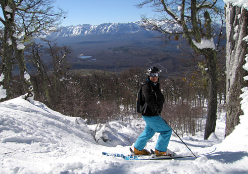 Off-piste skiing at Perito Moreno