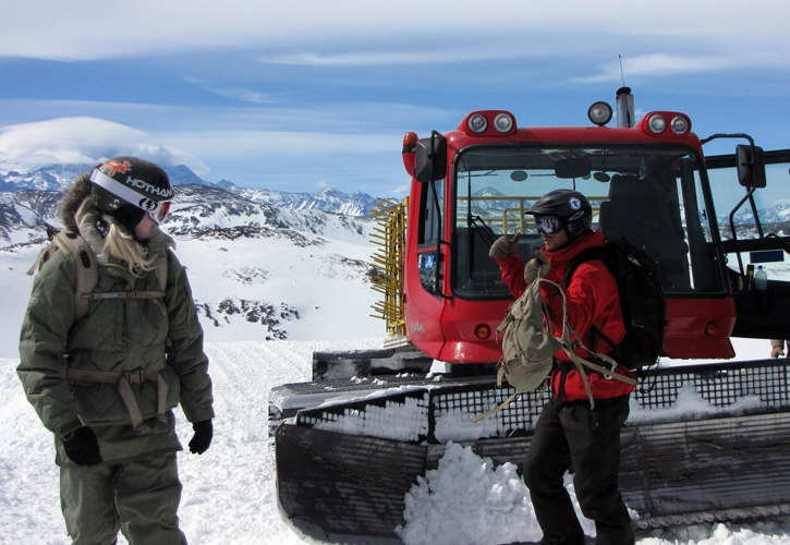 Arpa runs 2 snowcats with max 14 people per cat
