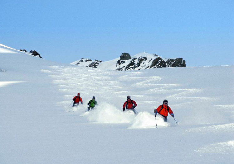 Powder South Heliski Guides - high elevation dry powder