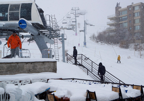 La Parva receives an average of 7m of snow per season