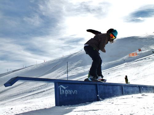 La Parva has a small terrain park