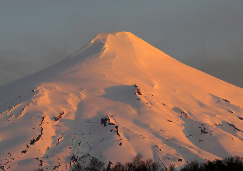 The views up to the Villarrica Volcano from town are rather striking
