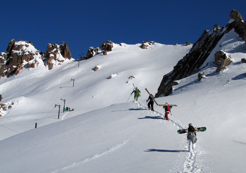 Great lift-accessed backcountry in South America