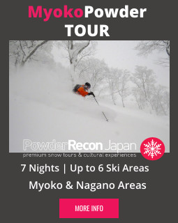 Myoko Kogen Powder Packages