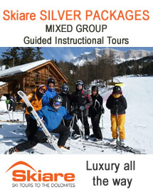Mixed group guided instructional packages to the Dolomites