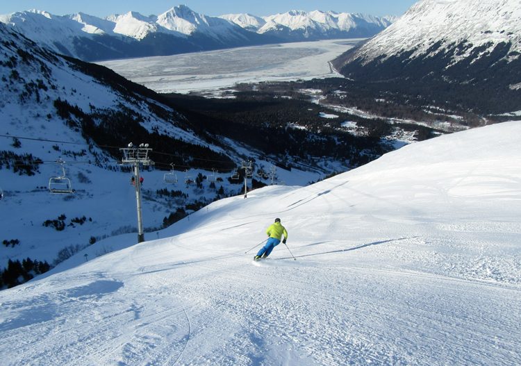 Alyeska Ski Resort has some long groomed runs