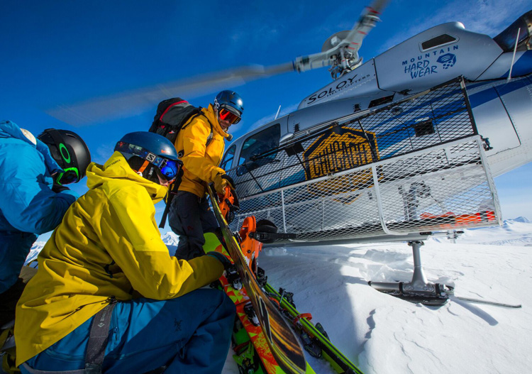 Heli skiing with Chugach Powder Guides. Image: Adam Clarke