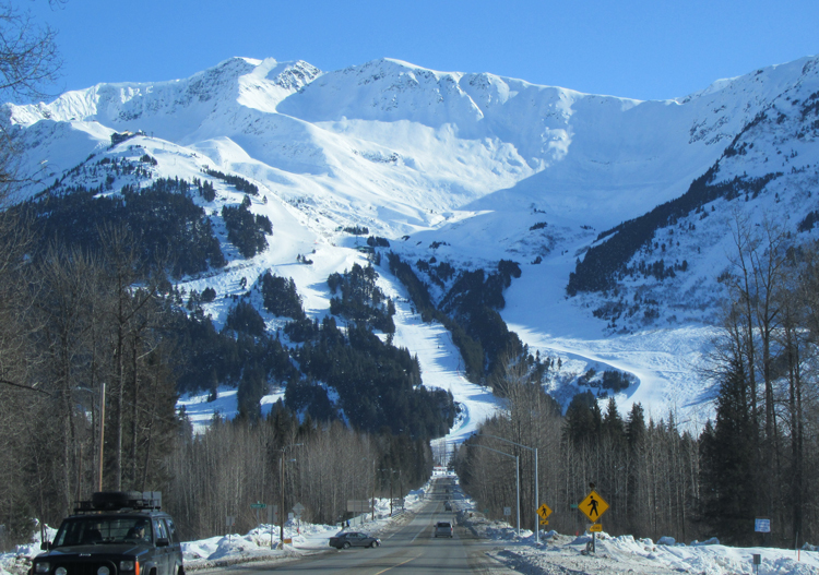 Driving up to Alyeska AK