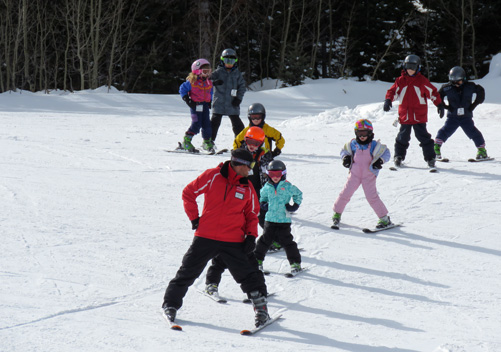 Ski school is very affordable