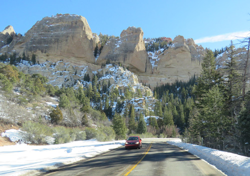 The drive up to Brian Head Utah