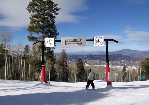 One of the Buttermilk terrain parks