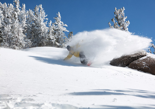 Mammoth is one of the top ski resorts in California for powder hounds