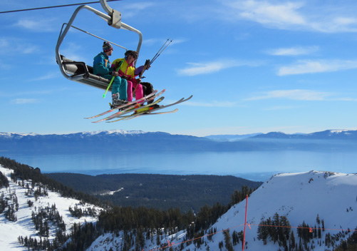 Alpine Meadows, one of the Lake Tahoe ski resorts
