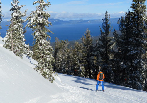 Heavenly ski resort straddles California and Nevada