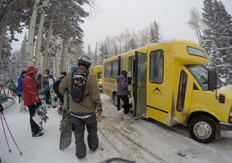Shuttle to get from lower to upper part of ski area