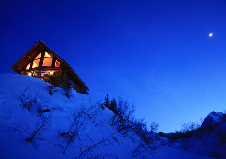 Black Ops Valdez Heliskiing Alaska - accommodation is in Robe Lake Lodge or Cabins