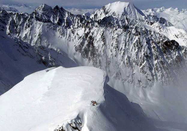 Black Ops Valdez Heliskiing Alaska - stand on some incredible peaks