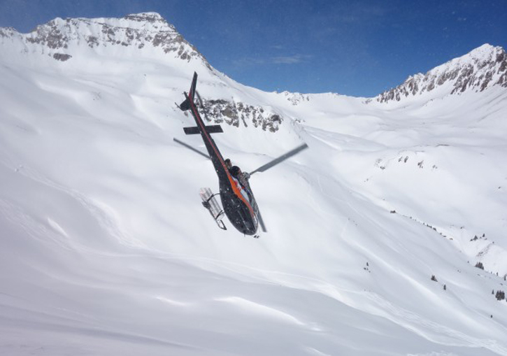 Telluride Helitrax - offers packages including return fixed wing flights for those staying at Aspen or Vail