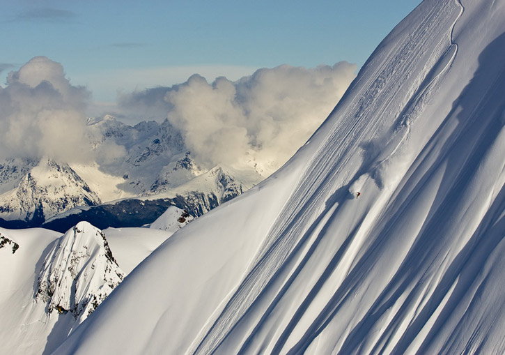SEABA Heliskiing, Haines, Alaska - you can ski or ride the really steep stuff if that's what you desire