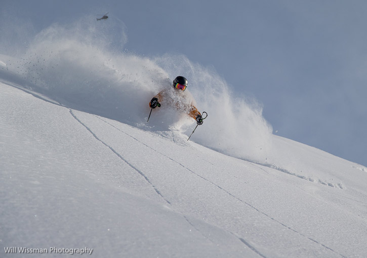 SEABA Heliskiing, Haines, Alaska - or ski the moderate 30 to 45 degree slopes in bottomless powder