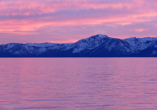 Views across Lake Tahoe from Incline Village Nevada