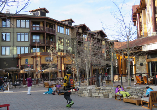 The Village at Mammoth is a pedestrian only village
