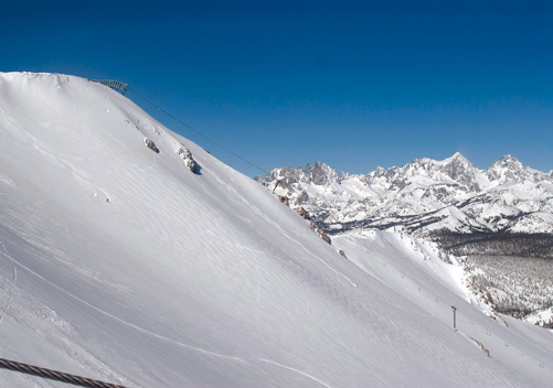 Mammoth ski resort has plenty of black diamond terrain