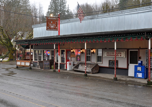 Graham's pub in the little town of Glacier