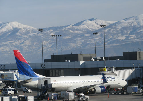 SLC airport: close to various Utah ski resorts