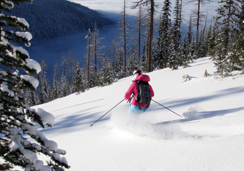 Snowcat Skiing at Schweitzer - click on the photo for more information