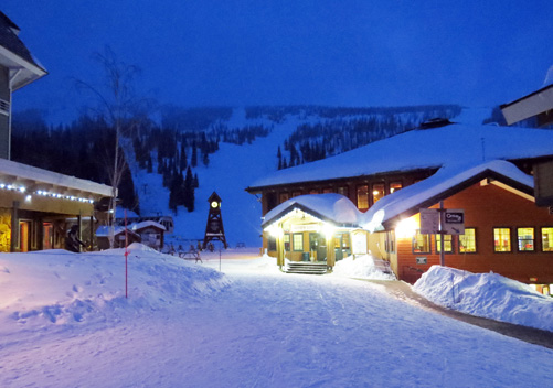 The sedate nightlife of Schweitzer Village