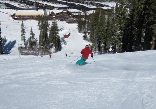 The Sierra Ski Resort also has some great groomers