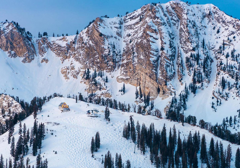Dramatic back-drop at Solitude ski resort | PC: Solitude Resort