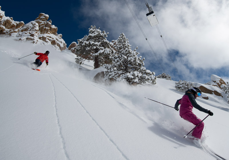 Silky turns on Broken Arrow at Squaw Valley | PC: Hank DeVre