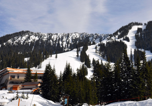 Some of the steeps of Stevens Pass Ski Resort