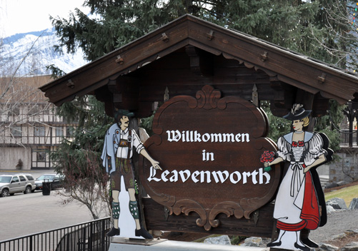 The town of Leavenworth is 35 miles away