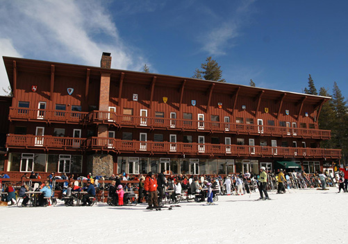 The Village has a few facilities such as eateries and ski rentals