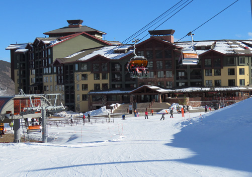 The ski in ski out Grand Summit Hotel