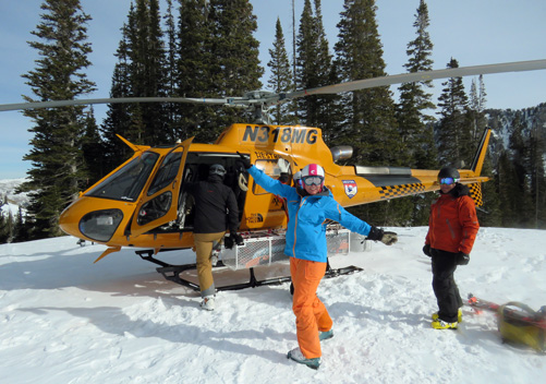 Heli skiing is available at Canyons with Powderbird
