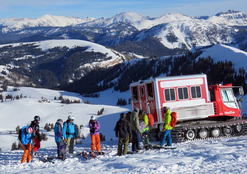 or you can go snowcat skiing with Park City Powder Cats