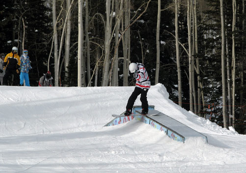 Canyons has a few terrain parks