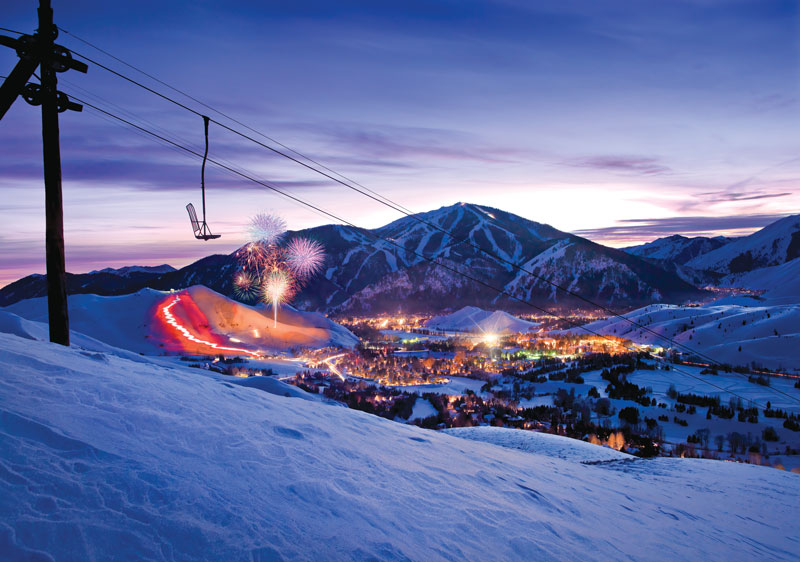 Ski resorts in the USA have very well developed infrastructure - Sun Valley, Idaho